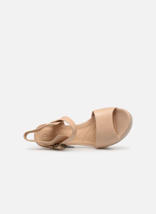 Sandales et nu-pieds Clarks MARITSA JANNA Beige vue gauche