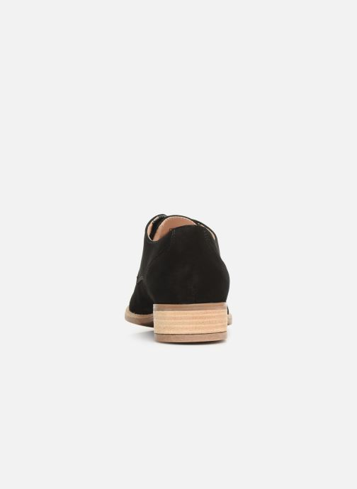 Snörade skor Clarks NETLEY BLOOM Svart Bild från höger sidan