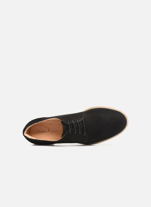 Zapatos con cordones Clarks NETLEY BLOOM Negro vista lateral izquierda