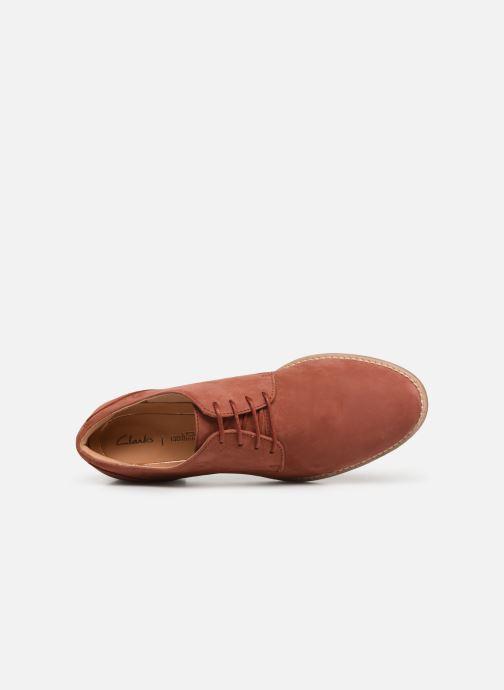 Chaussure Femme Grande Remise Clarks NETLEY BLOOM Rouge Chaussures à lacets 361398