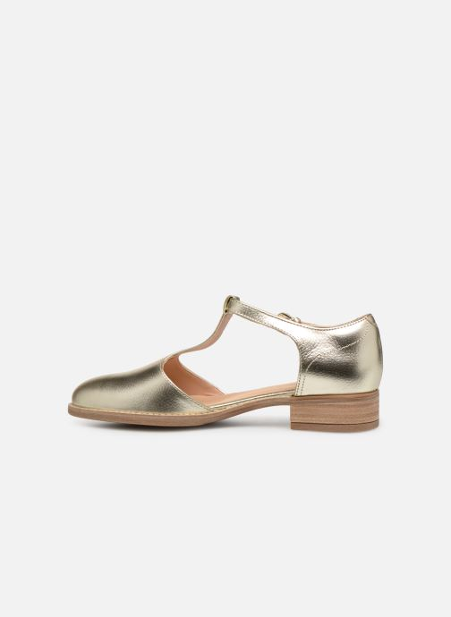 Loafers Clarks NETLEY FRESH Bronze and Gold front view