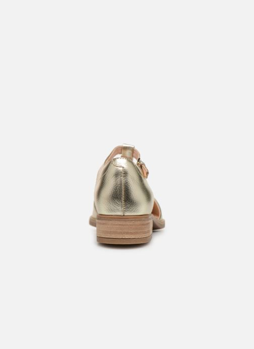 Loafers Clarks NETLEY FRESH Bronze and Gold view from the right