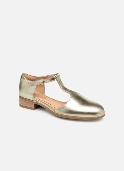 Loafers Clarks NETLEY FRESH Bronze and Gold detailed view/ Pair view