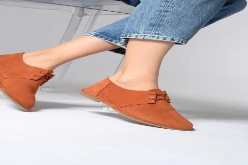 Chaussures à lacets Clarks ERIN WEAVE Bleu vue bas / vue portée sac