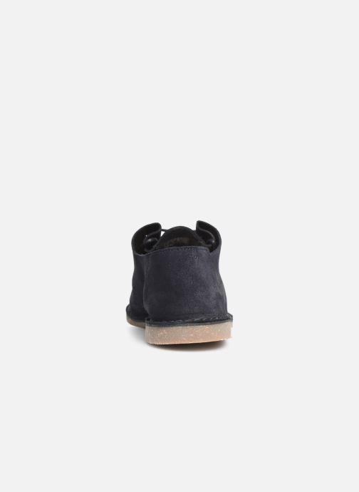 Zapatos con cordones Clarks ERIN WEAVE Azul vista lateral derecha