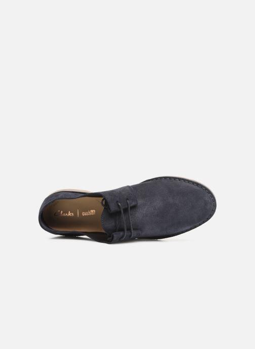Chaussures à lacets Clarks ERIN WEAVE Bleu vue gauche