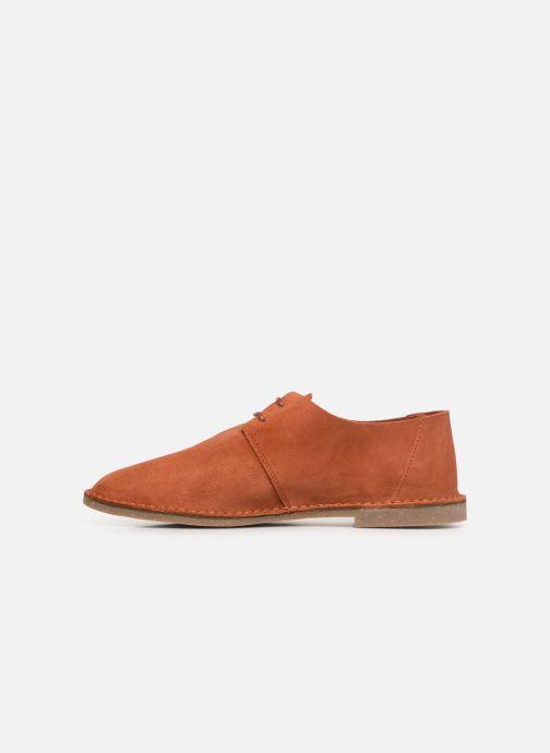 Zapatos con cordones Clarks ERIN WEAVE Naranja vista de frente