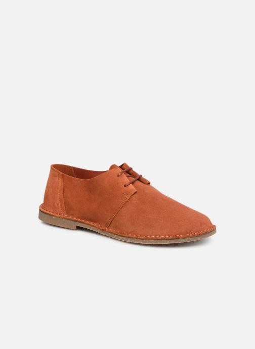 Zapatos con cordones Clarks ERIN WEAVE Naranja vista de detalle / par