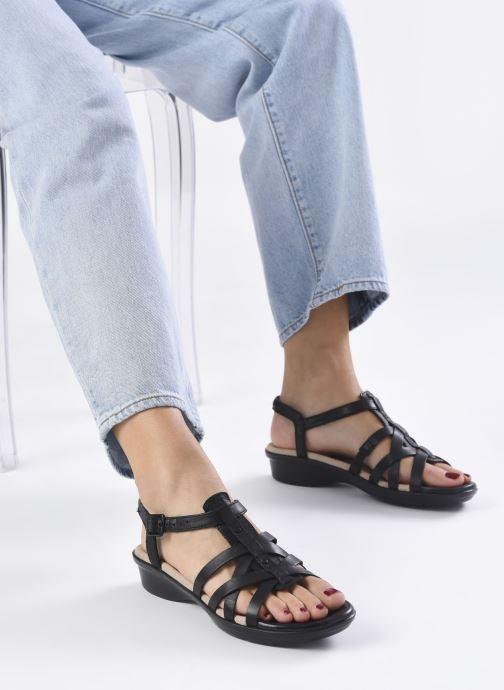Sandales et nu-pieds Clarks LOOMIS KATEY Noir vue bas / vue portée sac