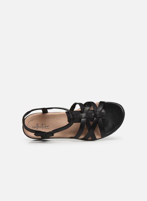 Sandales et nu-pieds Clarks LOOMIS KATEY Noir vue gauche