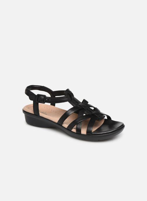 Sandales et nu-pieds Clarks LOOMIS KATEY Noir vue détail/paire