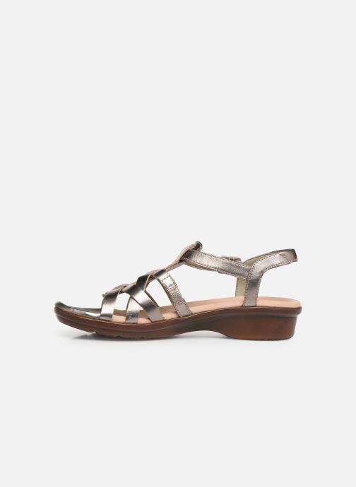 Sandales et nu-pieds Clarks LOOMIS KATEY Argent vue face