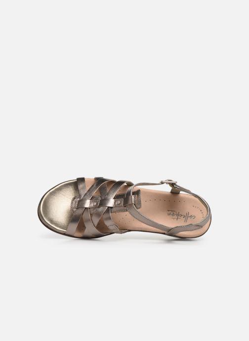 Sandales et nu-pieds Clarks LOOMIS KATEY Argent vue gauche