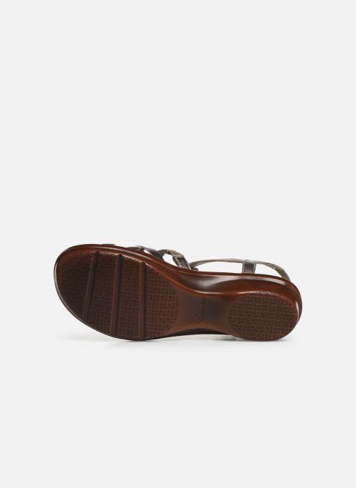Sandales et nu-pieds Clarks LOOMIS KATEY Argent vue haut