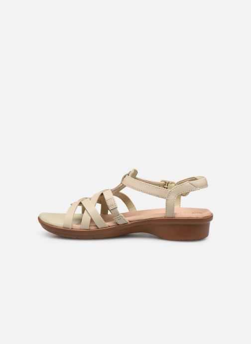 Sandales et nu-pieds Clarks LOOMIS KATEY Beige vue face