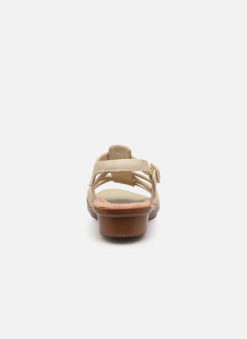 Sandales et nu-pieds Clarks LOOMIS KATEY Beige vue droite