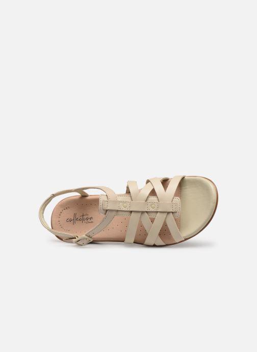 Sandales et nu-pieds Clarks LOOMIS KATEY Beige vue gauche