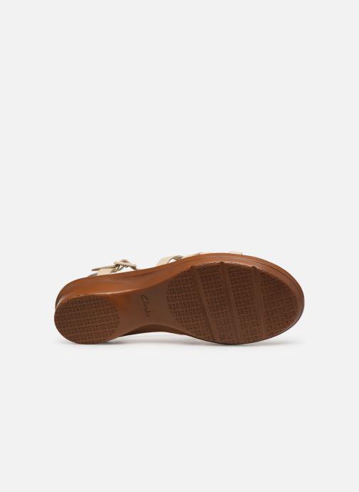 Sandales et nu-pieds Clarks LOOMIS KATEY Beige vue haut