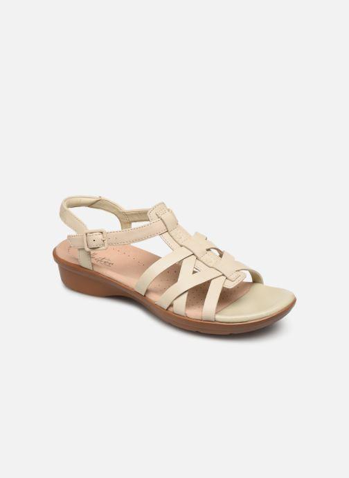 Sandales et nu-pieds Clarks LOOMIS KATEY Beige vue détail/paire