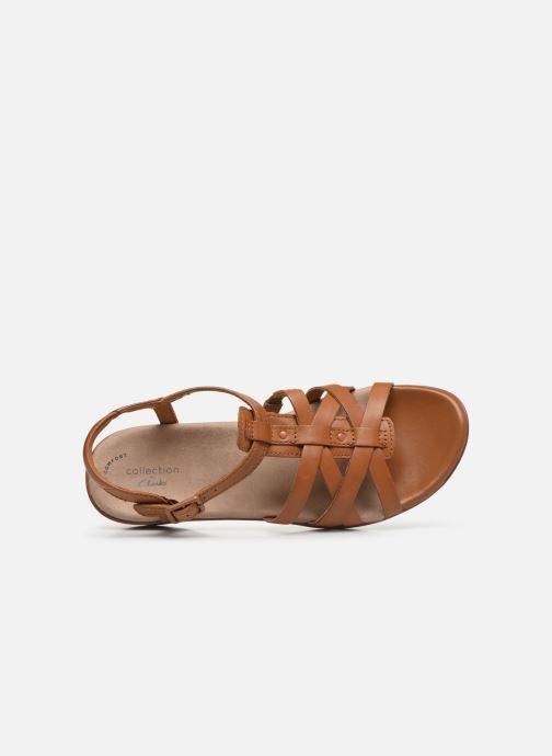 Sandales et nu-pieds Clarks LOOMIS KATEY Marron vue gauche