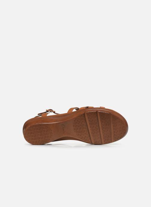 Sandales et nu-pieds Clarks LOOMIS KATEY Marron vue haut