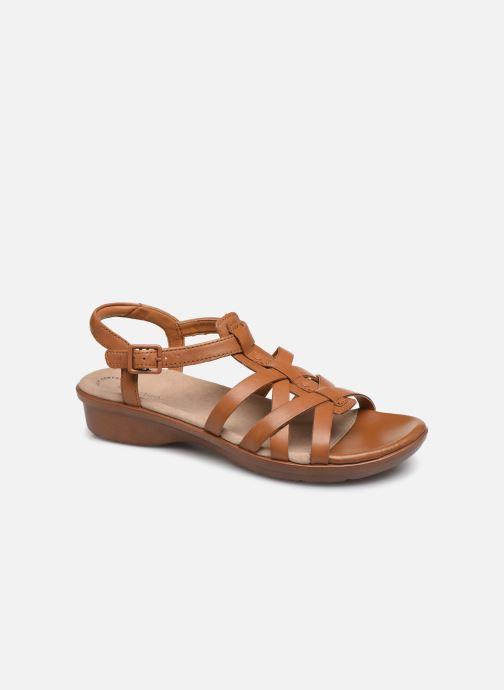 Sandales et nu-pieds Clarks LOOMIS KATEY Marron vue détail/paire