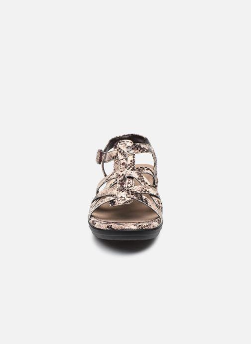 Sandales et nu-pieds Clarks LOOMIS KATEY Gris vue portées chaussures