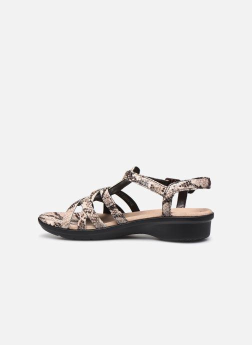 Sandales et nu-pieds Clarks LOOMIS KATEY Gris vue face