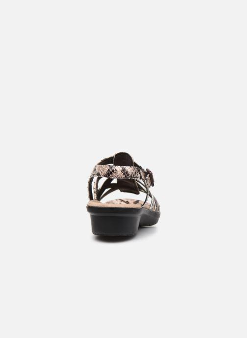 Sandales et nu-pieds Clarks LOOMIS KATEY Gris vue droite