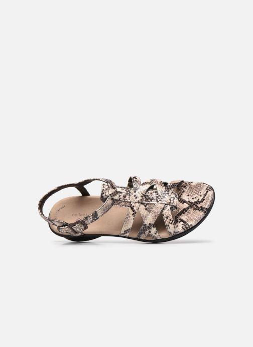 Sandales et nu-pieds Clarks LOOMIS KATEY Gris vue gauche