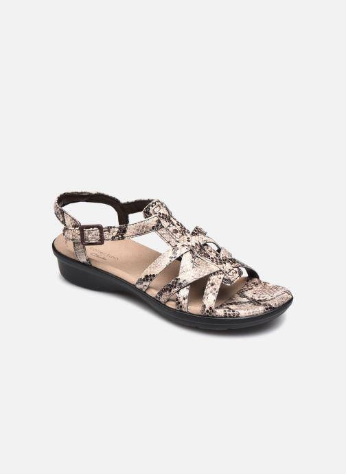 Sandales et nu-pieds Clarks LOOMIS KATEY Gris vue détail/paire