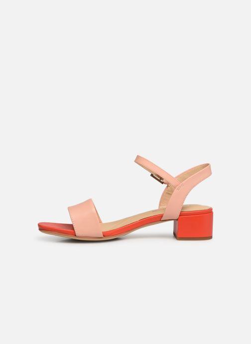Sandalen Clarks ORABELLA IRIS rosa ansicht von vorne