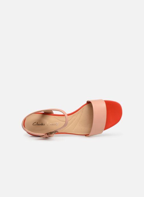 Sandales et nu-pieds Clarks ORABELLA IRIS Rose vue gauche
