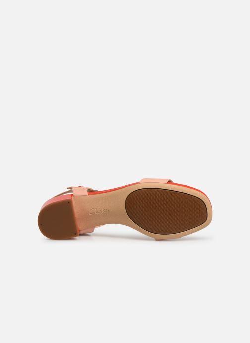 Sandales et nu-pieds Clarks ORABELLA IRIS Rose vue haut