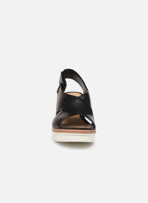 Sandales et nu-pieds Clarks PALM CANDID Noir vue portées chaussures