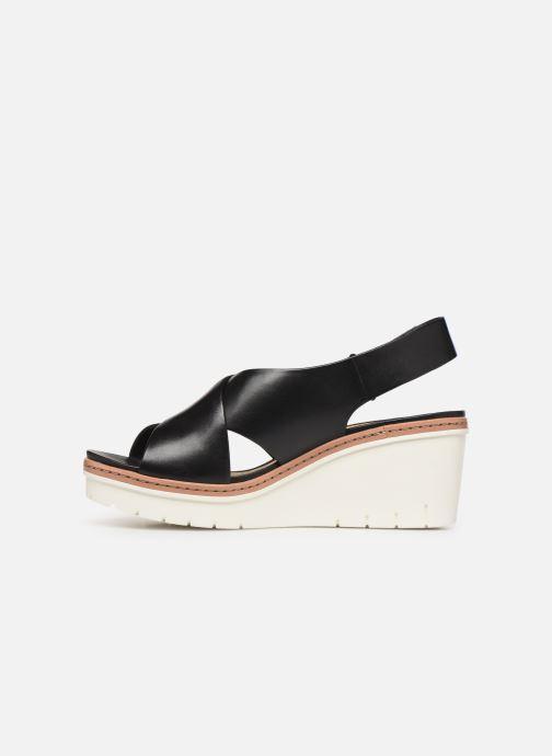 Sandales et nu-pieds Clarks PALM CANDID Noir vue face