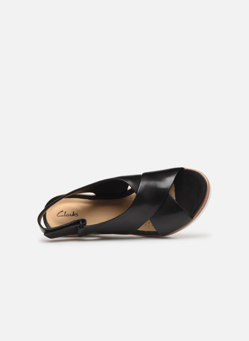 Sandales et nu-pieds Clarks PALM CANDID Noir vue gauche