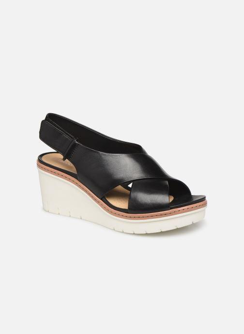 Sandales et nu-pieds Clarks PALM CANDID Noir vue détail/paire