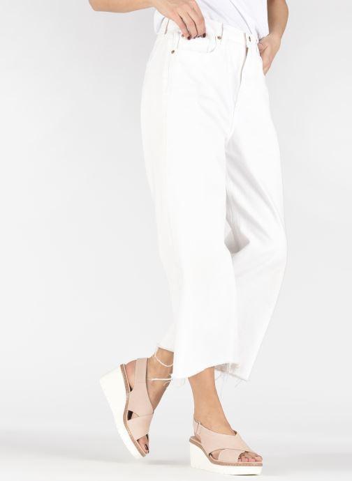Sandales et nu-pieds Clarks PALM CANDID Rose vue bas / vue portée sac