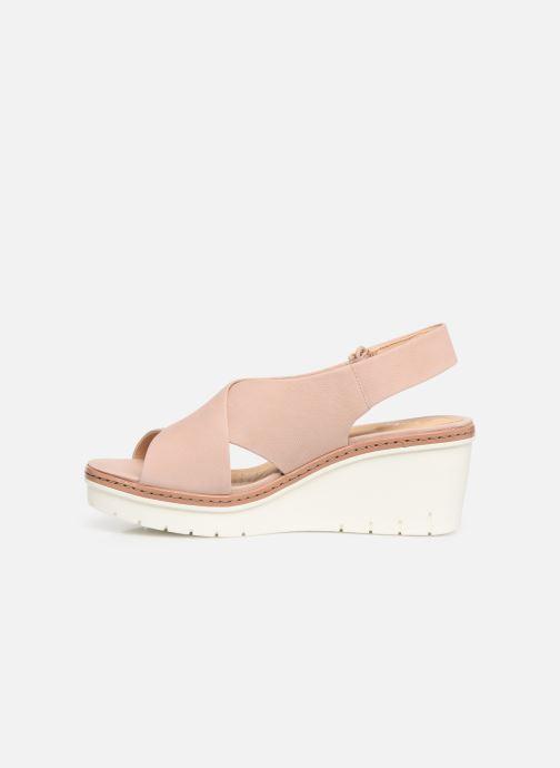 Sandales et nu-pieds Clarks PALM CANDID Rose vue face