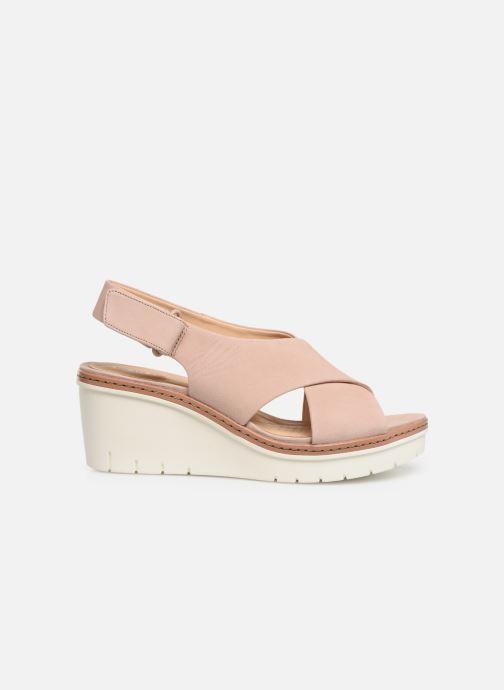Sandales et nu-pieds Clarks PALM CANDID Rose vue derrière