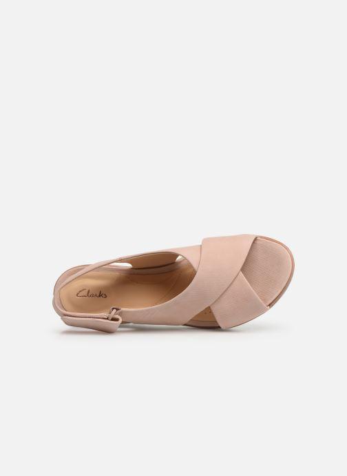 Sandales et nu-pieds Clarks PALM CANDID Rose vue gauche