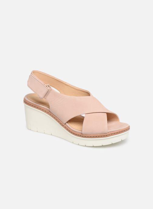 Sandaler Clarks PALM CANDID Pink detaljeret billede af skoene