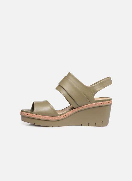 Sandales et nu-pieds Clarks PALM STELLAR Vert vue face
