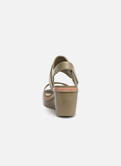 Sandales et nu-pieds Clarks PALM STELLAR Vert vue droite