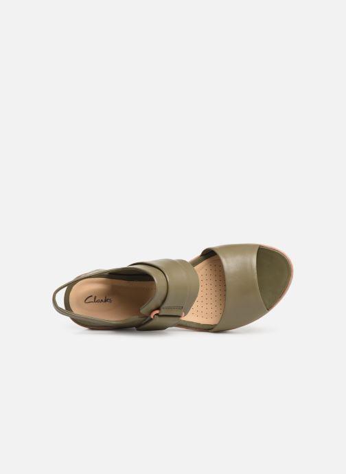 Sandales et nu-pieds Clarks PALM STELLAR Vert vue gauche
