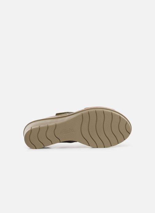 Sandales et nu-pieds Clarks PALM STELLAR Vert vue haut