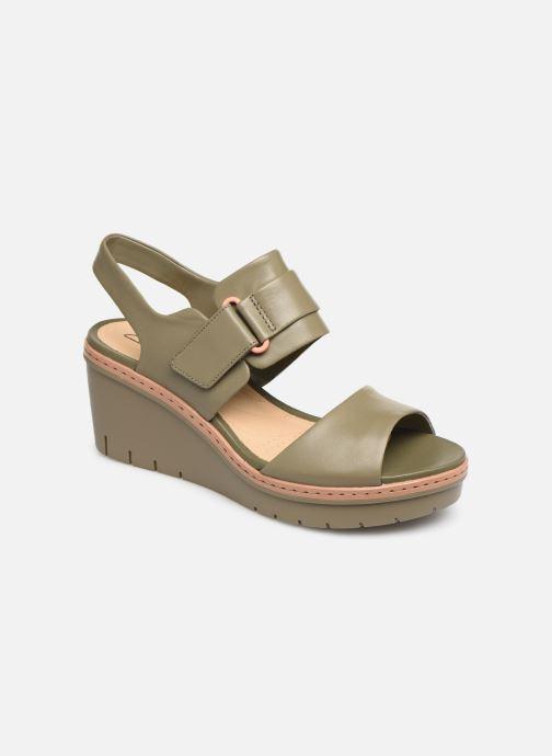 Sandaler Clarks PALM STELLAR Grøn detaljeret billede af skoene