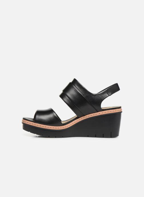 Sandales et nu-pieds Clarks PALM STELLAR Noir vue face