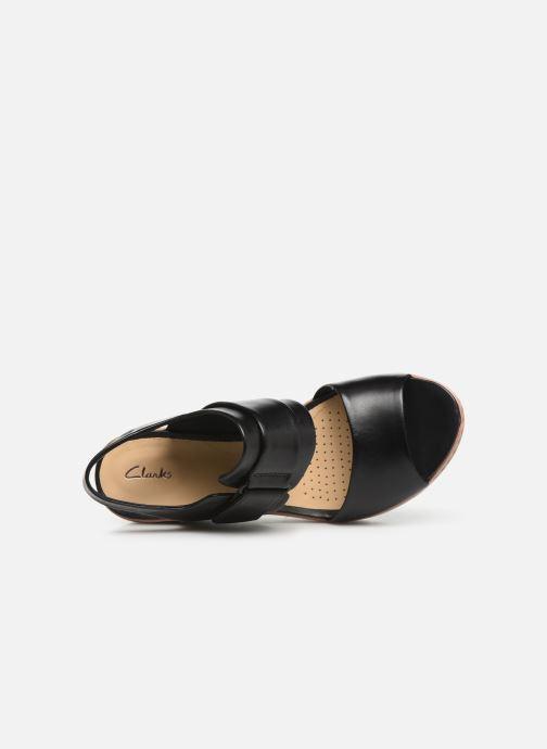 Sandales et nu-pieds Clarks PALM STELLAR Noir vue gauche